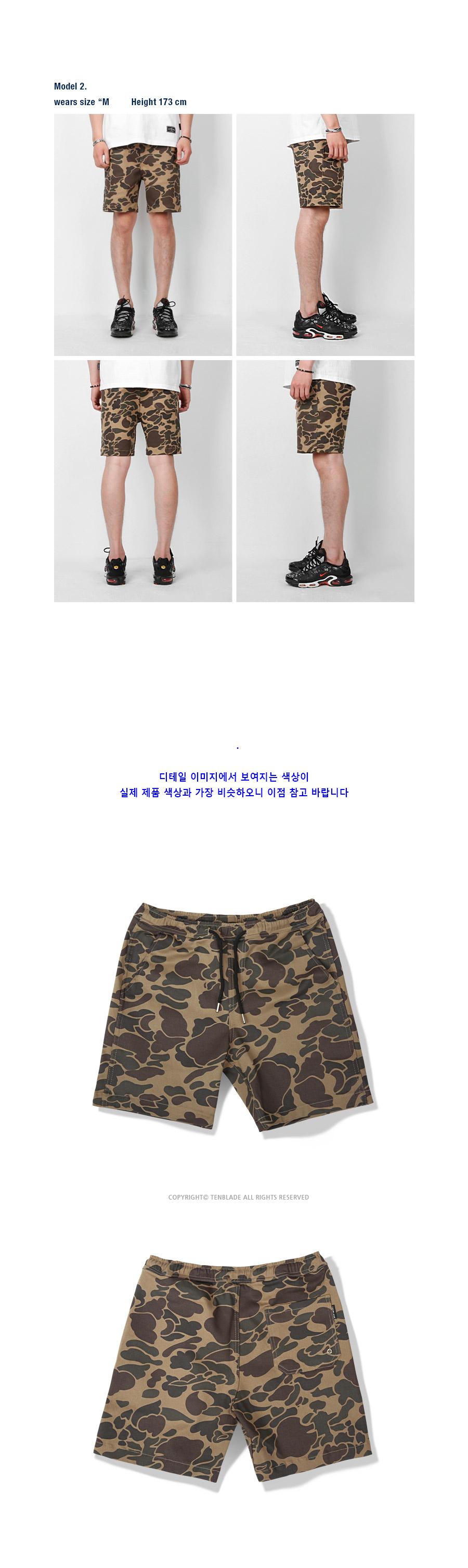 텐블레이드(TENBLADE) camouflage short pants tsp104af-beige