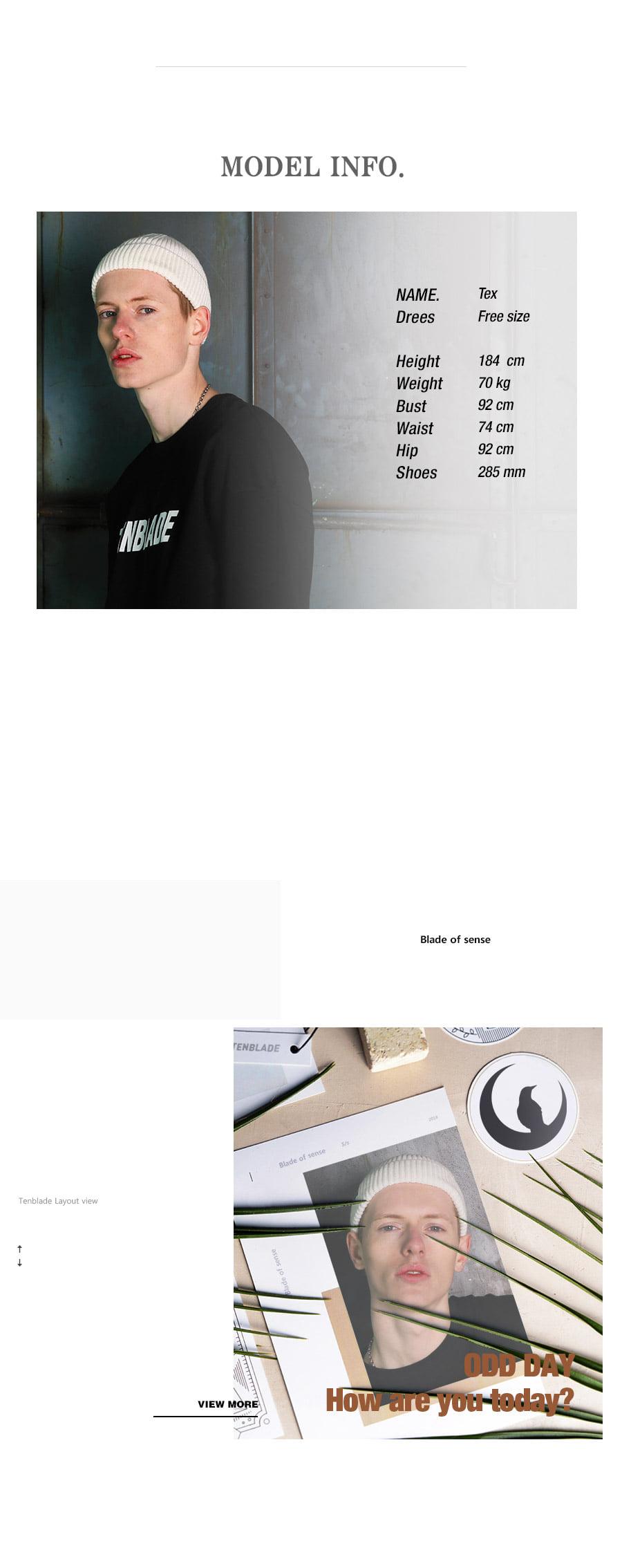 텐블레이드 로고 택 숏 비니_화이트