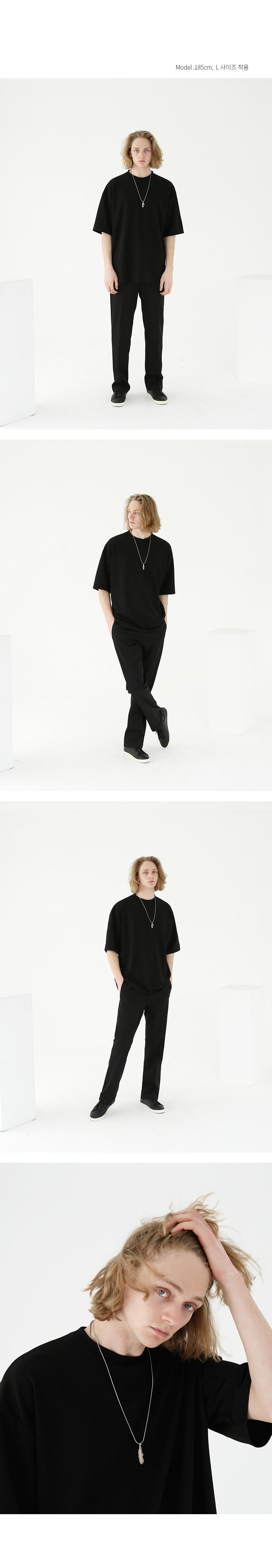 텐블레이드 프레시 오버 반팔티-블랙